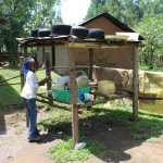 The Water Project: Malimali Community, Shamala Spring -  Dishes Drying