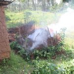 The Water Project: Malimali Community, Shamala Spring -  Steaming Compost Pile