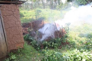 The Water Project:  Steaming Compost Pile