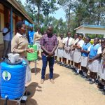 The Water Project: Kimangeti Girls' Secondary School -  Handwashing Training