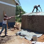 The Water Project: Bululwe Secondary School -  Teamwork Makes Cement Fly