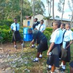 The Water Project: Hombala Secondary School -  Handwashing Practice