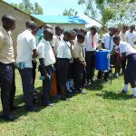 The Water Project: Imanga Secondary School -  Handwashing Practice