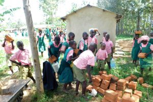 The Water Project:  Students Bringing Bricks