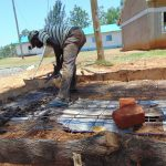 The Water Project: Imanga Secondary School -  Latrine Floor Casting