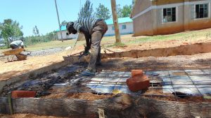 The Water Project:  Latrine Floor Casting
