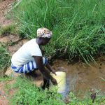 The Water Project: Malimali Community, Shamala Spring -  Gentrix Fetches Water