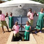 The Water Project: Mukhweya Primary School -  Completed Tank