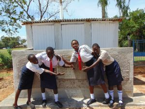 The Water Project:  Completed Girls Latrines