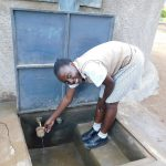 The Water Project: Kimangeti Girls' Secondary School -  Getting A Drink