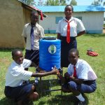 The Water Project: Imanga Secondary School -  Handwashing Station