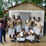 The Water Project: Kimangeti Girls' Secondary School -  Completed Latrines