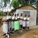 The Water Project: Kimangeti Girls' Secondary School -  Handwashing Staion