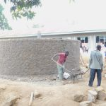 The Water Project: Eshiakhulo Primary School -  Tank Wall Construction