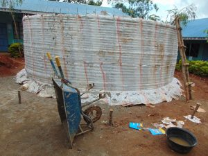 The Water Project:  Tank Walls Curing