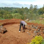 The Water Project: Dr. Gimose Secondary School -  Preparing Tank Foundation