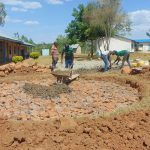 The Water Project: Imanga Secondary School -  Tank Construction Underway