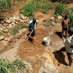 The Water Project: Ataku Community, Ngache Spring -  Preparing Clay