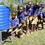 The Water Project: Eshiakhulo Primary School -  Handwashing Line