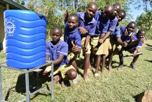 The Water Project:  Handwashing Line