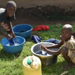The Water Project: Ataku Community, Ngache Spring -  Laundry At Home With Spring Water