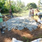 The Water Project: Mukhweya Primary School -  Making Cement