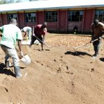 The Water Project: Mukhweya Primary School -  Preparing Sand