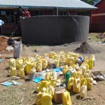 The Water Project: Mukhweya Primary School -  Student Delivered Water For Construction