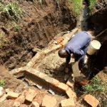 The Water Project: Ataku Community, Ngache Spring -  Bricklaying Begins