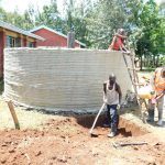 The Water Project: Mukhweya Primary School -  Tank Walls Curing