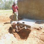The Water Project: Eshiakhulo Primary School -  Drainage Pit Construction