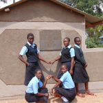The Water Project: Hombala Secondary School -  Completed Girls Latrines