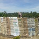 The Water Project: Dr. Gimose Secondary School -  Tank Walls Curing