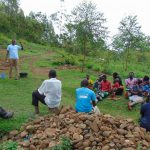 The Water Project: Mwichina Community, Shihunwa Spring -  Training Begins