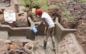 The Water Project:  Water To Smooth Cement