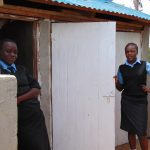 The Water Project: Hombala Secondary School -  Under Latrine Roof