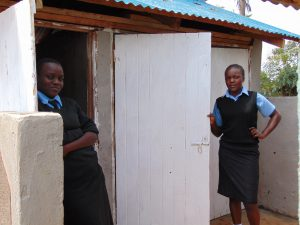 The Water Project:  Under Latrine Roof