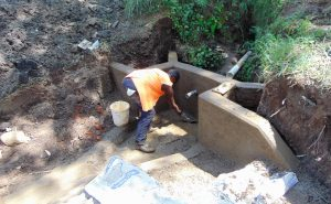 The Water Project:  Cementing