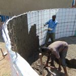 The Water Project: Bululwe Secondary School -  Cementing The Walls