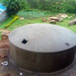 The Water Project: Dr. Gimose Secondary School -  Dome Construction