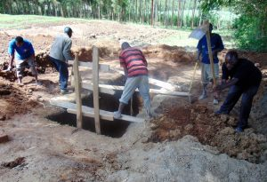 The Water Project:  Sinking Latrine Pits