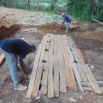 The Water Project: Kimangeti Girls' Secondary School -  Latrine Foundation