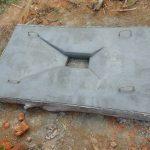 The Water Project: Emukangu Community, Okhaso Spring -  Completed Sanitation Platform