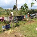 The Water Project: Malimali Community, Shamala Spring -  Clothes Drying