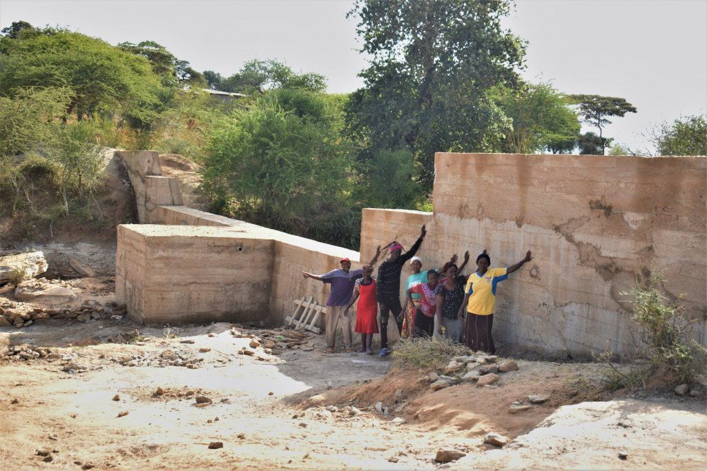The Water Project : kenya19195-celebrating-the-completed-dam