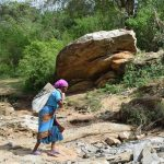 The Water Project: Mwau Community -  Hauling Materials