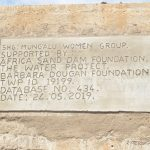 The Water Project: Kathungutu Community -  Dam Plaque