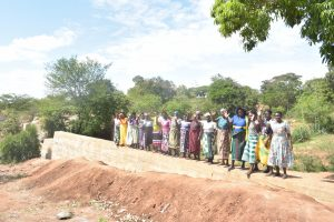 The Water Project:  Shg Members Celebrate New Dam