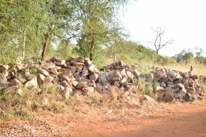 The Water Project:  Rocks For Tank Construction