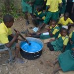 The Water Project: Kakunike Primary School -  Student Participates In Soapmaking